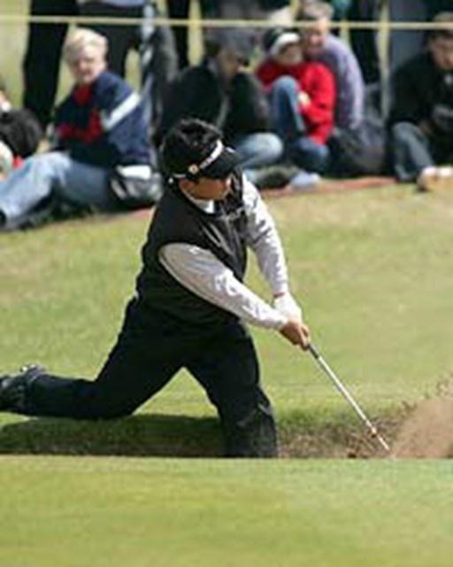 2004年 全英オープン 最終日 平塚哲二 メジャー初出場ながら健闘した平塚哲二。日本国内の枠には拘らず、世界トップレベルでのプレイを目指す(写真/BEYONDSHIP)