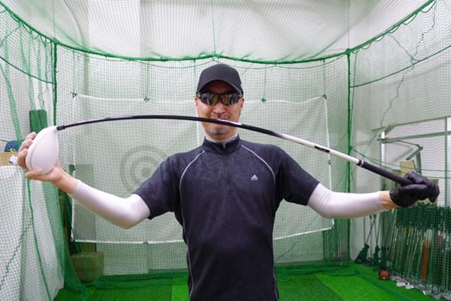 マーク試打 ネクストゴルフ 鎬(SHINOGI)シャフト 先・中・手元と全体的にしなってくれるため、タメが作りやすい