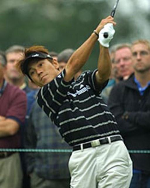 2003年 全米オープン 最終日 田中秀道 最終日の田中はティショットが曲がったが、粘りのゴルフを見せた(BEYONDSHIP)
