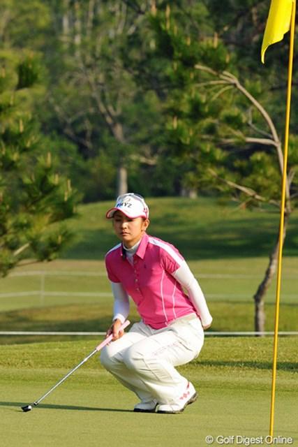 2013年 ダイキンオーキッドレディスゴルフトーナメント 事前 斉藤愛璃 大会連覇のかかった開幕戦、斉藤愛璃は良い緊張感を持って挑む