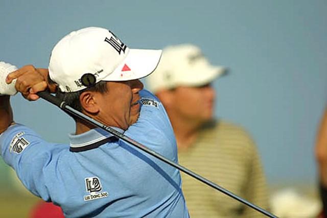 2003年 全英オープン 3日目 S.K.ホ 粘り強いゴルフでトップと3打差で最終日を迎えるS.K.ホ(写真/BEYONDSHIP)