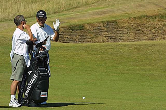 2003年 全英オープン 2日目 友利勝良 リンクスがお似合い! 全英オープン出場6度目の友利勝良(写真/BEYONDSHIP)