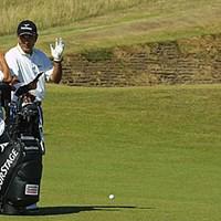 リンクスがお似合い! 全英オープン出場6度目の友利勝良(写真/BEYONDSHIP) 2003年 全英オープン 2日目 友利勝良