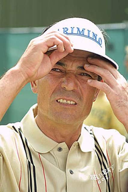 2003年 全英オープン 2日目 須貝昇 「いや~、マイッタね~」。須貝昇には来週の全英シニアオープンに期待したい(写真/BEYONDSHIP)