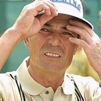 「いや~、マイッタね~」。須貝昇には来週の全英シニアオープンに期待したい(写真/BEYONDSHIP) 2003年 全英オープン 2日目 須貝昇