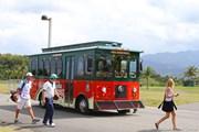 2013年 プエルトリコオープン 初日 カラフルなバス