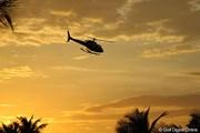 2013年 プエルトリコオープン 初日 ヘリコプター