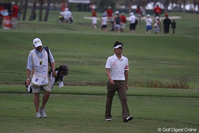 2013年 プエルトリコオープン 2日目 今田竜二 単発の試合が続く今田竜二。ペースに慣れて、なんとかこなしていくしかない