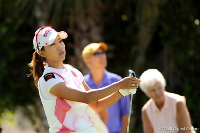 クラフトナビスコチャンピオンシップ3日目 「待つゴルフができない」と、攻め勇みを悔いていた上田桃子