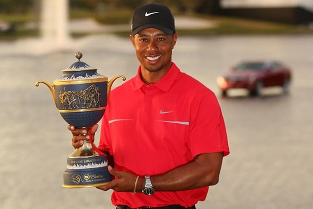 2013年 WGC キャデラック選手権 最終日 タイガー・ウッズ 今季2勝目を得意とするWGCで飾ったタイガー。ツアー通算76勝目を手にした(Mike Ehrmann/Getty Images)