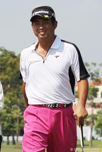 2013年 タイランドオープン 事前情報 池田勇太 タイの暑さにも慣れた池田勇太は、プロアマ戦でも余裕の笑顔でラウンドを行った