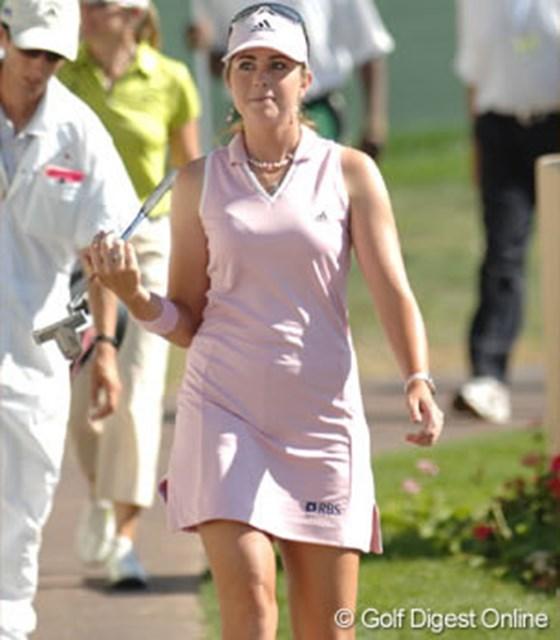 2007年 クラフトナビスコチャンピオンシップ 2日目 ポーラ・クリーマー この日首位タイに踊り出て、心なしか表情にもゆとりを感じるポーラ・クリーマー