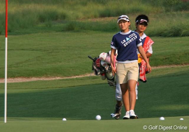 2007年 全米女子オープン 事前情報 横峯さくら 日本ツアーと同様、横峯さくらのキャディは15歳の有馬境佑くんが務める
