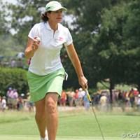 ベテランのジュリー・インクスター。暑さに負けず、スコアを伸ばした。 2007年 全米女子オープン 2日目 ジュリー・インクスター