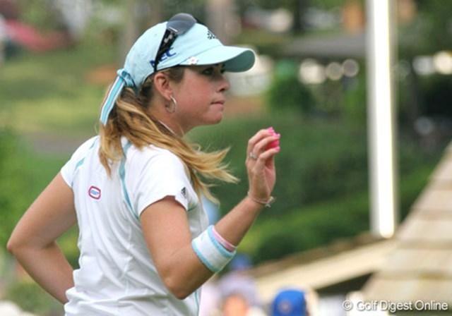 2007年 全米女子オープン 3日目 ポーラ・クリーマー 4オーバー、宮里藍と並び暫定27位タイで踏ん張るポーラ・クリーマー