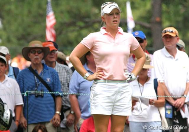2007年 全米女子オープン 3日目 モーガン・プレッセル 6年前、このコースでメジャー初挑戦を果たしたモーガン・プレッセルがメジャータイトルを掴んで帰ってきた