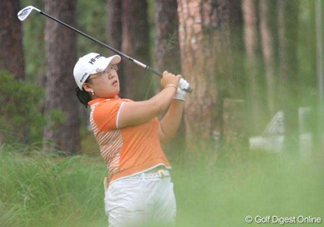 2007年 全米女子オープン 3日目 シン・ジエ 暫定単独首位で3日目を終えたのは、韓国の若き賞金女王シン・ジエ