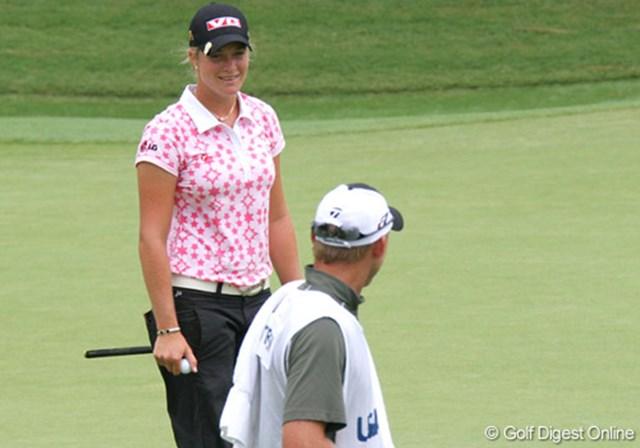 2007年 全米女子オープン 3日目 スーザン・ペターセン 前回のメジャー「マクドナルド全米女子プロ」を制したスーザン・ペターセンは1打足りず予選落ち