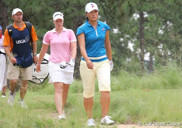 2007年 全米女子オープン 3日目 朴セリ 韓国勢30人以上が出場する今大会。リーダー格の朴セリが上位で後輩たちをリードする