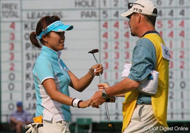 2007年 全米女子オープン 最終日 大山志保 4日間を共に戦ったキャディのポールと大山志保