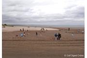 2007年 全英リコー女子オープン 2日目 砂浜