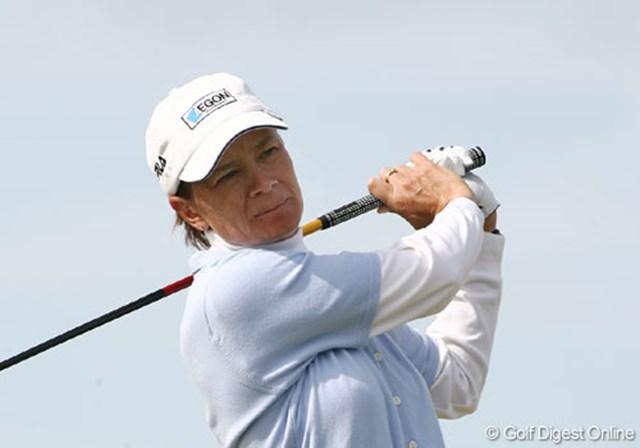 2007年 全英リコー女子オープン 3日目 カトリーナ・マシュー 地元スコットランド出身で唯一決勝に残ったカトリーナ・マシュー。18番での声援は間違いなくもっとも大きかった