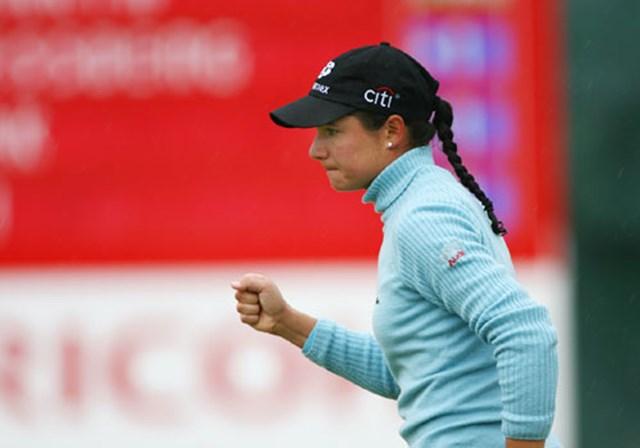 2007年 全英リコー女子オープン 最終日 ロレーナ・オチョア 5番、6番で連続バーディを奪い、完全に試合を優位に進めたロレーナ・オチョア。4日間1度も首位を明け渡さなかった