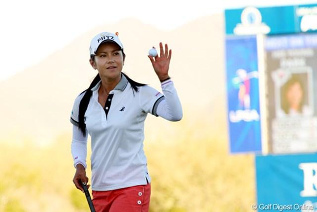 2013年 RRドネリー LPGA ファウンダーズカップ 初日 宮里藍 昨日「バーディ合戦になる」とコメントした通りの展開を、自らトップに立って牽引した宮里藍