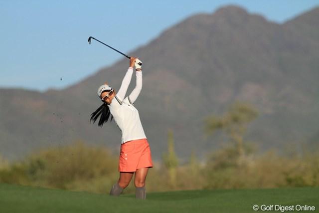 """2013年 RRドネリー LPGA ファウンダーズカップ 初日 宮里藍 アメリカに第2の""""自宅""""があるフェニックスでの試合は相性も抜群。復帰戦でいきなり首位発進を決めた宮里藍"""