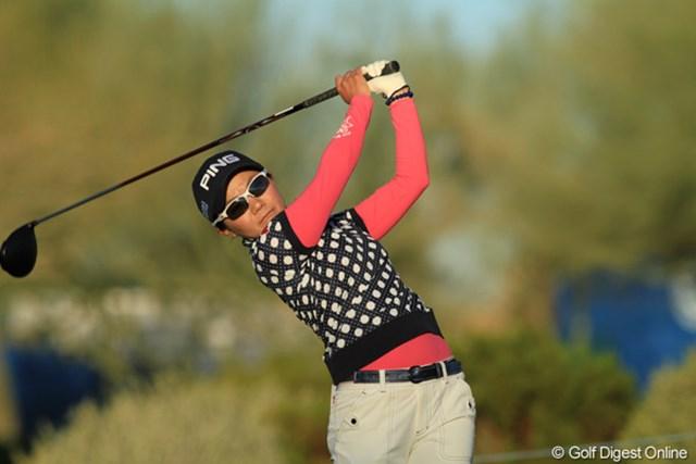 2013年 RRドネリー LPGA ファウンダーズカップ 初日 上原彩子 一つもバーディを取れなかったのは誤算。明日の巻き返しに期待したい。