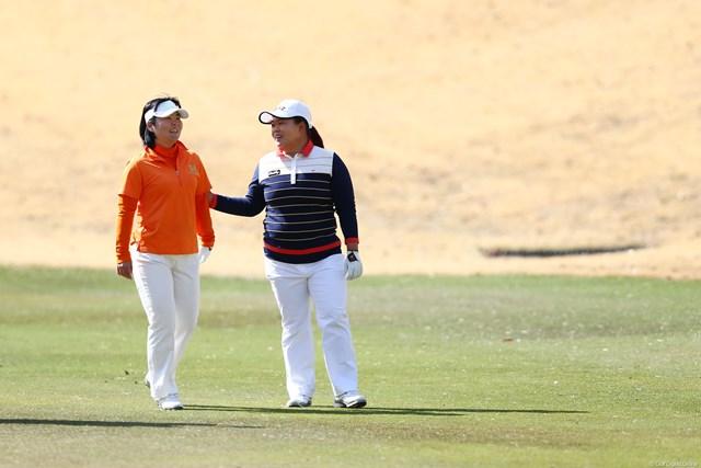 2013年 ヨコハマタイヤゴルフトーナメントPRGRレディスカップ 初日 不動裕理&アン・ソンジュ 二人の女王?
