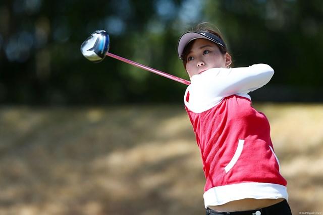 2013年 ヨコハマタイヤゴルフトーナメントPRGRレディスカップ 初日 森美穂 約1年9ヶ月ぶりに国内女子ツアーに参戦した森美穂。「成績以上に、たくさん感じることがあった」と瞳を輝かせた。