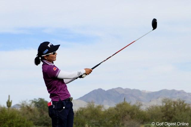 2013年 RRドネリー LPGA ファウンダーズカップ 2日目 上原彩子 スコアには現れなかったものの、「アジアよりもアメリカのコースが相性がいい」という印象に期待が持てる。