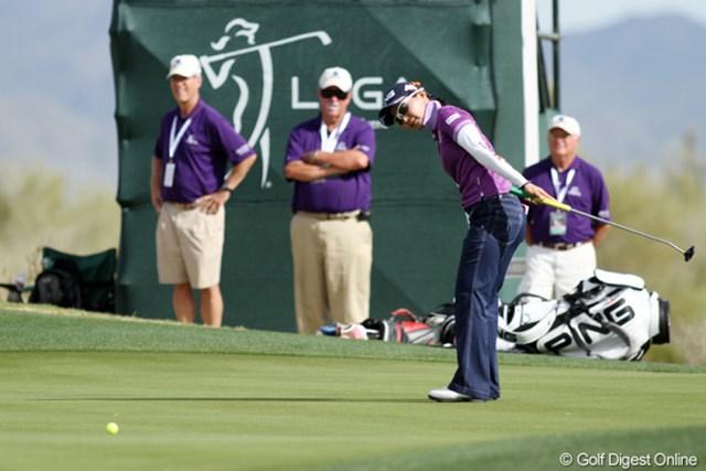 2013年 RRドネリー LPGA ファウンダーズカップ 2日目 上原彩子 スコアを伸ばせなかったものの、大きなミスもなく、リズムが合ってくればいつでも上位で戦えそうだ。