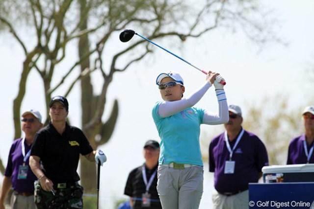 2013年 RRドネリー LPGA ファウンダーズカップ 3日目 有村智恵 3日目は2つ伸ばしてトータル4アンダー。周りが伸ばしているのでスコア的には付いて行くので精一杯。