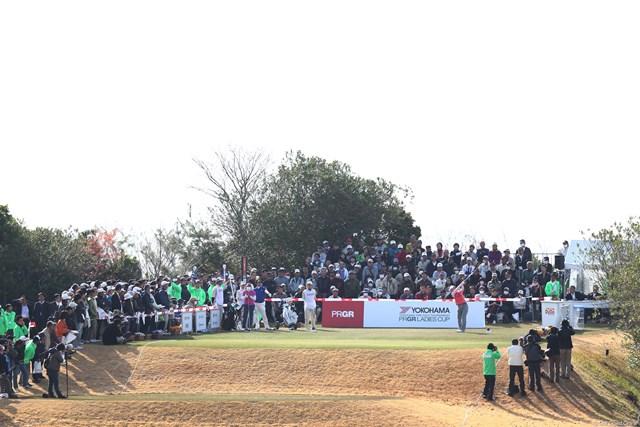 2013年 ヨコハマタイヤゴルフトーナメントPRGRレディスカップ 最終日 1番ティ 1番、斉藤愛璃選手ティショット