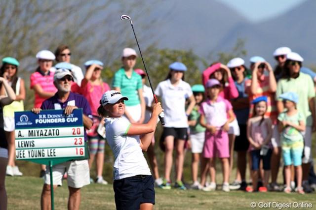 2013年 RRドネリー LPGA ファウンダーズカップ 最終日 ステーシー・ルイス 今年に入り3戦2勝。この優勝でついに世界ランクナンバー1に立った。