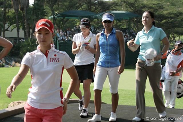 ワールドカップ女子ゴルフ2日目 チームジャパンにとっては後味の悪い上がりとなった