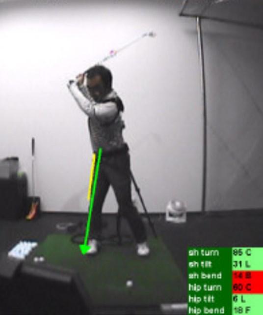 golftec インサイドアウトで振るためのトップを体感!3-1