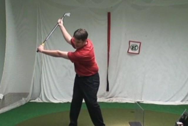 golftec インサイドアウトで振るためのトップを体感!4-2