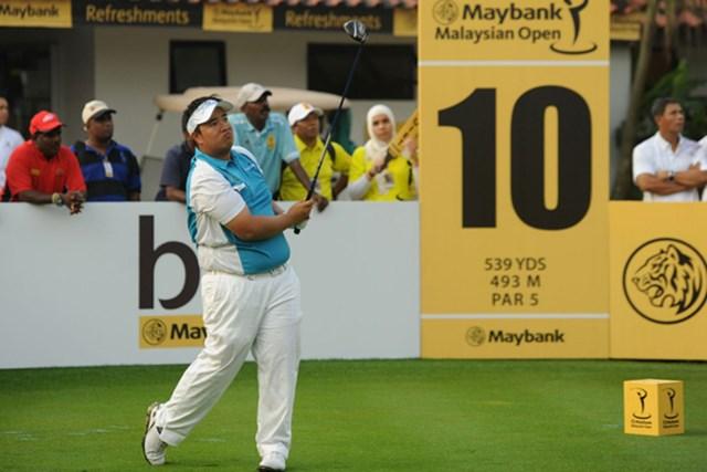 7アンダーで18ホールを終えたキラデク・アフィバーンラトが暫定で単独首位(写真/アジアンツアー)