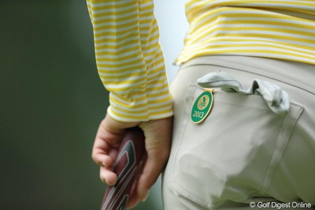2013年 Tポイントレディスゴルフトーナメント 2日目 森田理香子 ツアープレイヤーの証。欲しい。