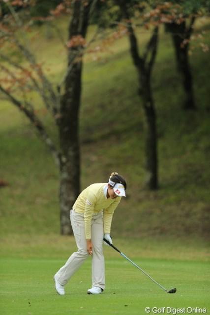 2013年 Tポイントレディスゴルフトーナメント 2日目 森田理香子 ロングをツーオンしたのにこのガックリ。もっと上につけたかったんだって。志高いね。