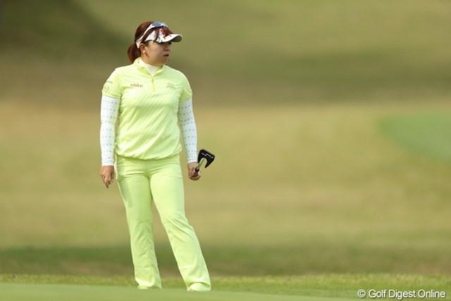 2013年 Tポイントレディスゴルフトーナメント 2日目 吉田弓美子 あ!メロンパンナちゃんだ!