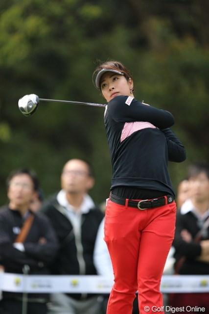 2013年 Tポイントレディスゴルフトーナメント 最終日 森田理香子 とにかく森田プロの飛距離はハンパじゃない!