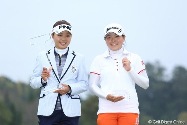 2013年 Tポイントレディスゴルフトーナメント 最終日 一ノ瀬優希 勝みなみアマ どっち合わせでも、とても大人と子供には見えない。