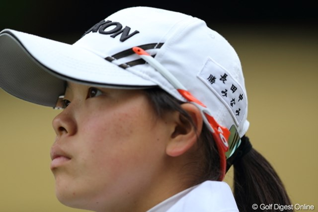 2013年 Tポイントレディスゴルフトーナメント 最終日 勝みなみアマ そうだよね、中学生なんだよね。