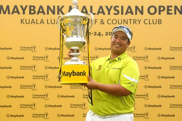 2013年 メイバンク・マレーシアオープン 最終日 キラデク・アフィバーンラト 54ホールの短期決戦を制しツアー初優勝を果たしたキラデク・アフィバーンラト(Getty Images)