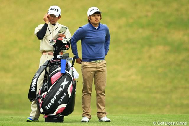 2013年 アクサレディスゴルフトーナメント in MIYAZAKI 初日 野村敏京 バックナインで爆発し、4位タイスタートです。