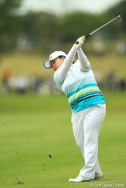 2013年 アクサレディスゴルフトーナメント in MIYAZAKI 初日 アン・ソンジュ ケガをして以降、ずっと調子を落としていましたが、久々に女王の風格漂うラウンドでした。